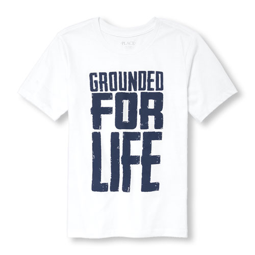 The Children's Place Boys Short Sleeve 'Grounded For Life'