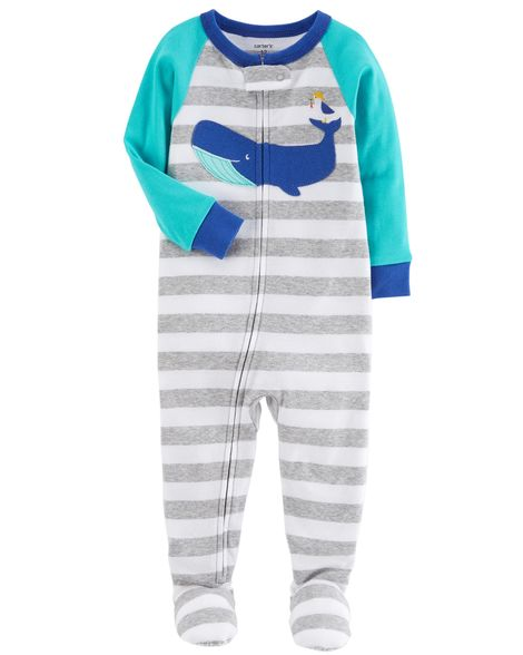 Carter's 1-Piece Whale Snug Fit Cotton PJs