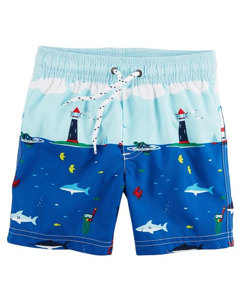 Carter's Sailboat Swim Trunks