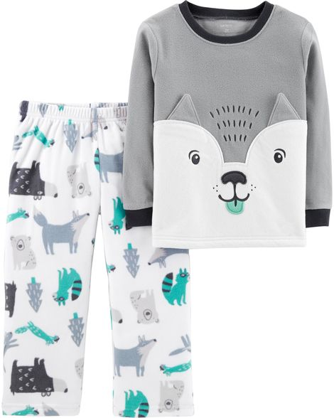 Carter's 2-Piece Wolf Fleece PJs Grey