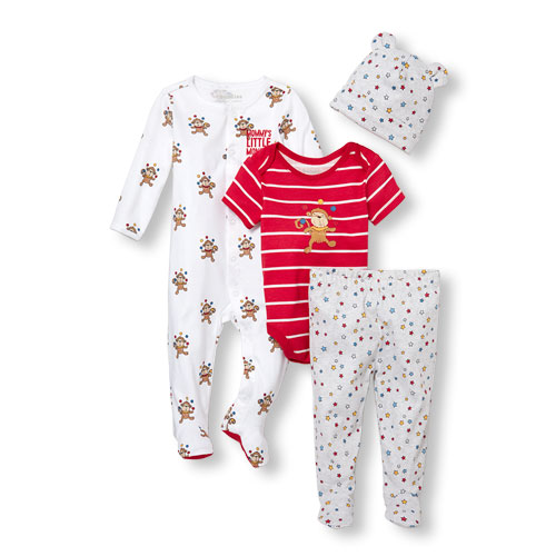 Baby Boys Circus Party Take Me Home 4-Piece Set Ruby