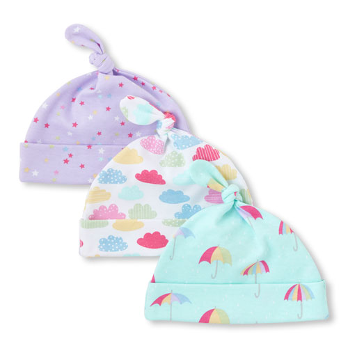 The Children s Place Baby Girls Rainbow Cloud Knotted Hat 3-Pack – Oh How  Cute 62628226eb6