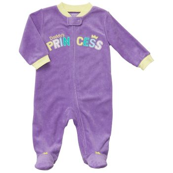 Carter's 1-piece Daddy's Princess Zip-Up Terry Sleep & Play