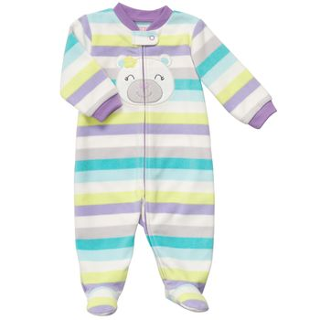 Carter's 1-piece Bear Purple Fleece Girls Pj