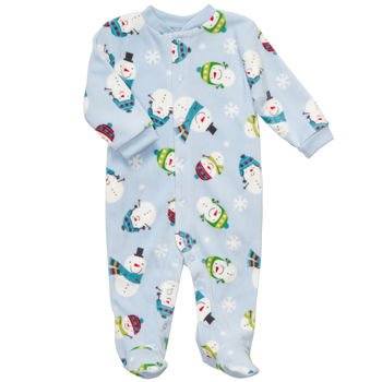 Carter's 1 piece Fleece Blue Snow Boys Pj