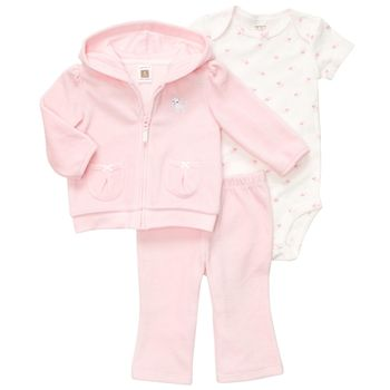 Carter's 3 pieces Set Pink with Jacket 3m