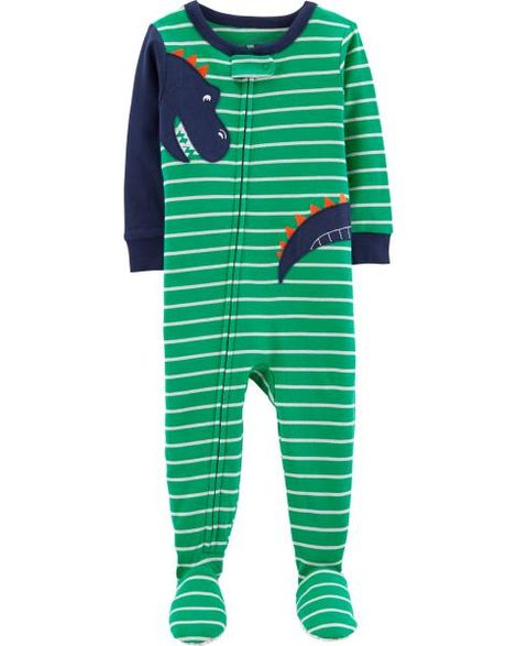 Carter's 1-Piece Dinosaur Footed Snug Fit Cotton PJs