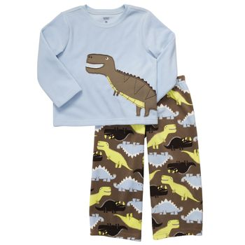 Boys Carter's 2 pieces Fleece Dino Pj 2 years