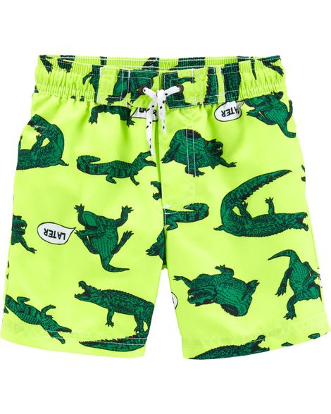 Carter's Alligator Swim Trunks