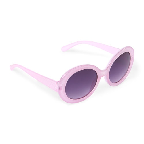 The Children's Place Girls Glitter Oval Sunglasses Pink