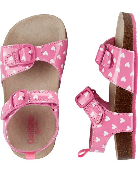 OshKosh Girls Buckle Heart Sandals