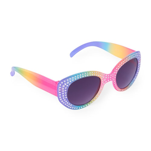 The Children's Place Girls Faceted Rainbow Oval Sunglasses