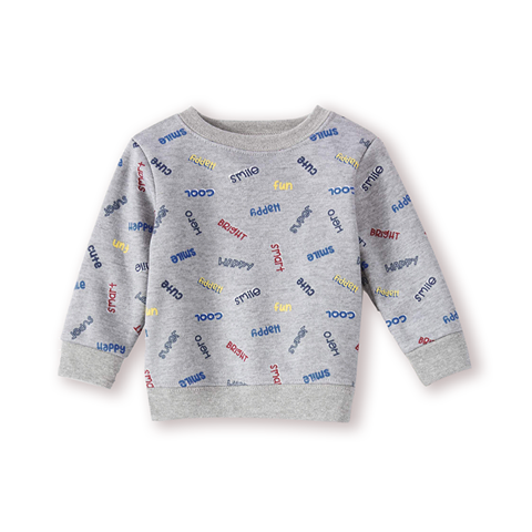 Garanimals Baby Boys Sweatshirts Mom's Hero Graphic Grey