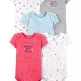 Carter's 5-Pack Princess Original Bodysuits